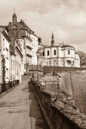 City wall and Ville Haute, Luxembourg City