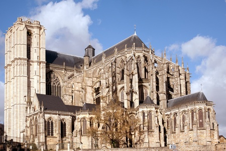 Le Mans cathedral in historic Plantagenet city photo