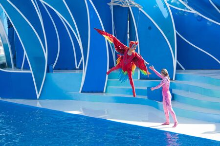 NOVEMBER 14th, 2010, SAN DIEGO, USA - Acrobats performing in the show of San Diego Seaworld