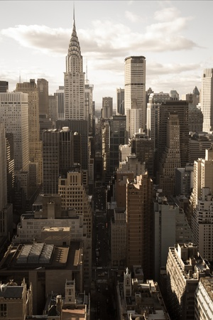 42nd: 42nd street perspective with Chrysler building, NYC