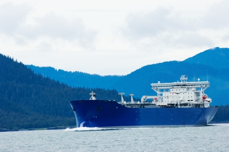 Oil tanker heading to refinery near Valdez, Alaska photo