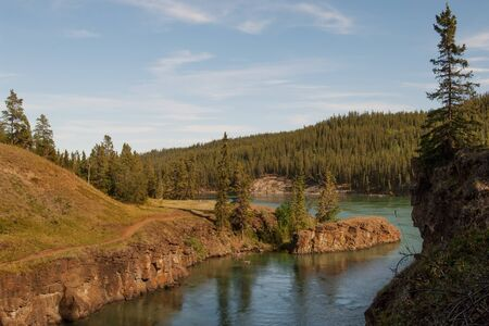 yukon: Whitehorse rapids on Yukon river in Miles canyon