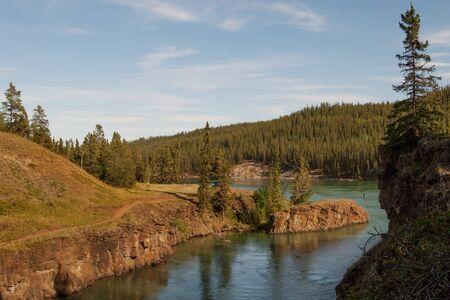 whitehorse: Whitehorse rapids on Yukon river in Miles canyon