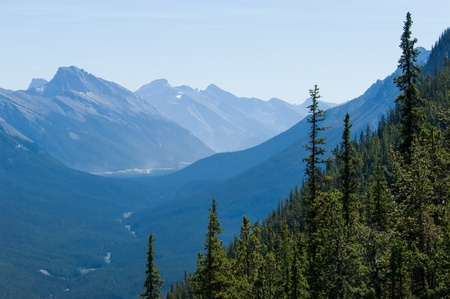 endless: Endless mountain range in Banff National park, Canada Stock Photo