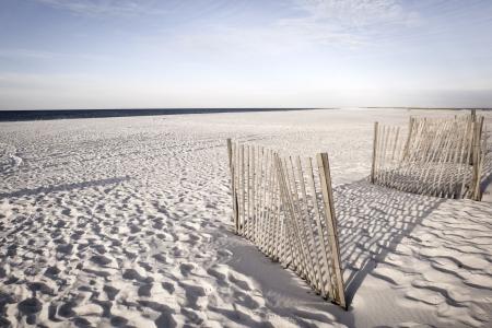 alabama: White sand dunes of Alabama Gulf Shores Stock Photo