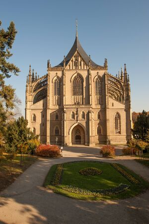 St  Barbara gothic cathedral in Kutna Hora, Bohemia photo
