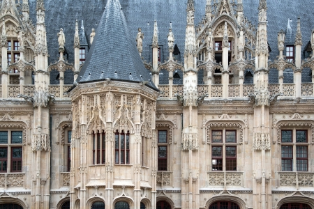 Flamboyant style of Palais de Justice in Rouen Imagens