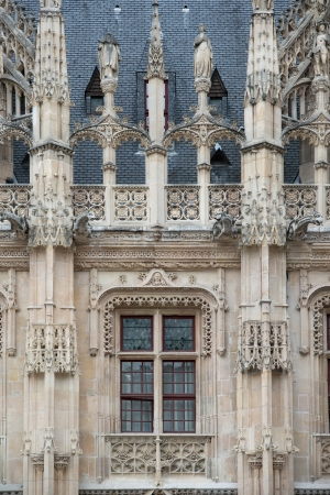 flamboyant: Flamboyante stijl van Palais de Justice in Rouen Stockfoto