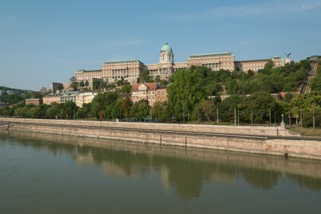 Danube riverbank with Royal Palace of Buda photo