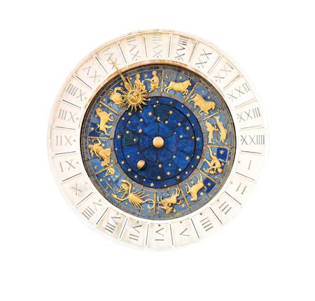 numeros romanos: Famoso del siglo XV de San Marco reloj en la Plaza de San Marco en Venecia Foto de archivo