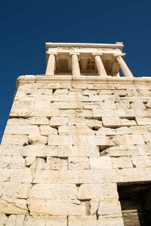 Ancient temple of Athena Nike on Acropolis Hill, Athens photo