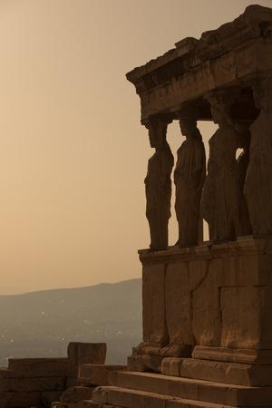 caryatids: Porch of Caryatids in Erechtheion on Acropolis Hill, Athens