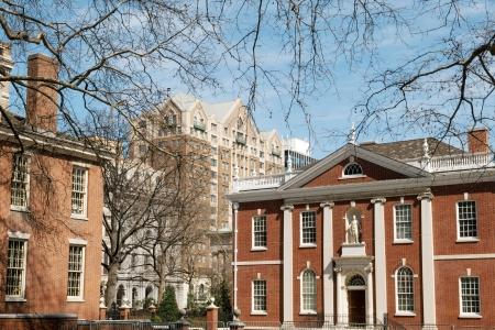 the center of the city: Library Company de Philadelphial - edificio hist�rico en el centro de la ciudad de Filadelfia
