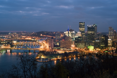 highrises: View from mt  Washington on downtown Pittsburgh