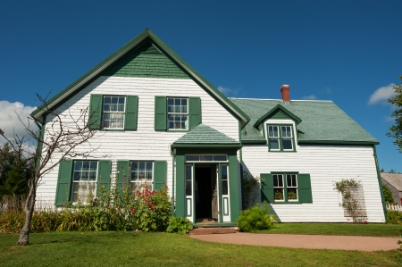 gables: Famous house with Green Gables in Prince Edward Island, Canada Editorial