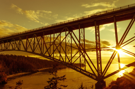 Deception Pass Bridge from Whidbey Island to Fidalgo Island, Washington state