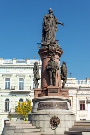 founders: Monument to Odessa founders and Catherine the Great Stock Photo