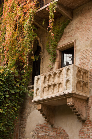 balcony: Famous balcony on the house in Verona claiming to be Juliet Stock Photo