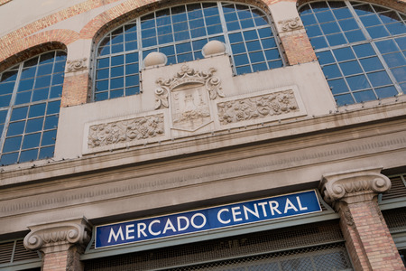 central market: Famoso edificio del Mercado Central, en el centro de Alicante Editorial