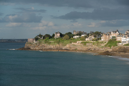 holiday destination: Dinard panorama, famous holiday destination in Brittany