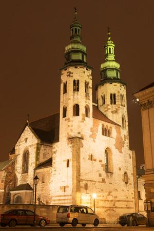 stare miasto: Historic XI century St  Andrew fortress church in Krakow