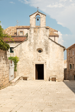 sveti: Sveti Petar church of XIV century in Korcula, Croatia