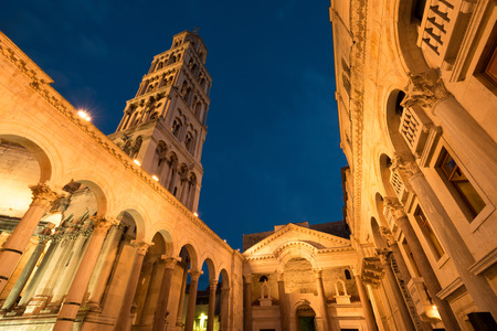 Split Cathedral and Diocletian Palace, Croatia 版權商用圖片