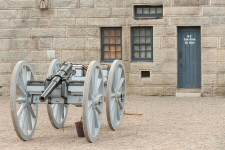 historic site: Cannon in historic Fort George in Halifax downtown, Canada
