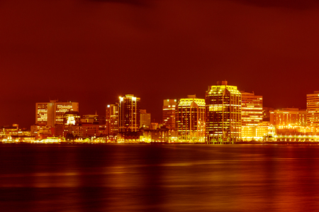 habour: Downtown Halifax nightly panorama across Halifax habour