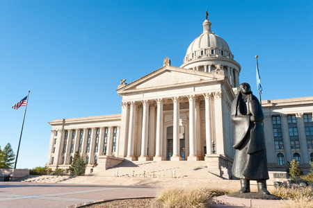 american city: State Capitol in Oklahoma city, capital of Oklahoma state, USA