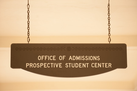 Office of admissions  sign at San Diego State University