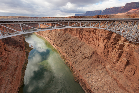 southwest usa: Navajo Bridge over Colorado river in Marble canyon, Southwest USA