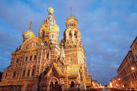 st petersburg: Famous Church on Spilt Blood in St Petersburg, Russia Stock Photo