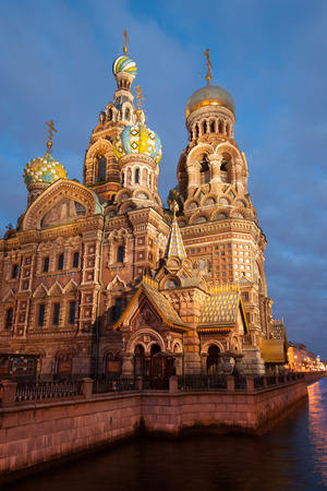 spilt: Famous Church on Spilt Blood in St Petersburg, Russia Stock Photo