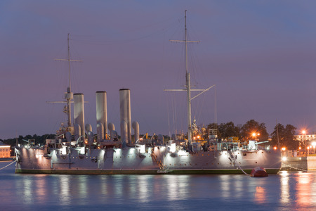 cruiser: Avrora, oldest Russian navy cruiser, symbol of October revolution Editorial