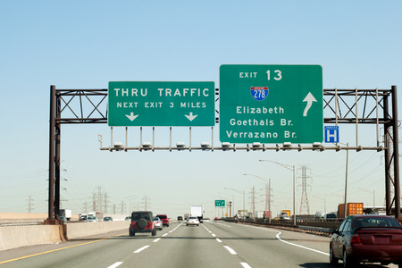 elizabeth: NJ Turnpike (I-95) exit to I-278 Interstate in New Jersey