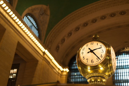 concourse: Antique clock in main concourse of Grand Central Terminal Editorial