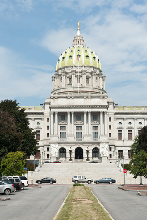 Pennsylvania state capitol in downtown Harrisburg
