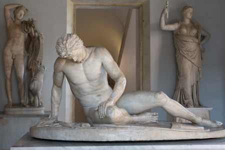 dying: Famous Dying Gaul statue in Capitoline Museum, Rome