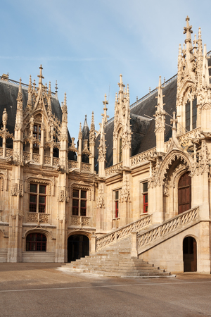 flamboyant: Flamboyant style of Palais de Justice in Rouen, Normandy