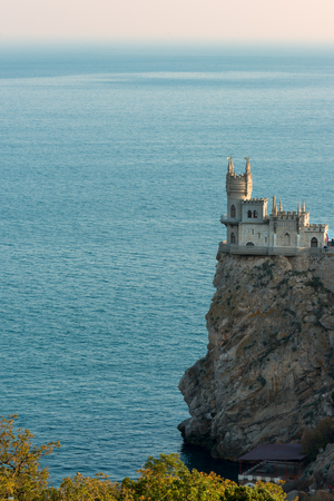 Swallows Nest iconic castle in Gaspra on Southern Crimean coast