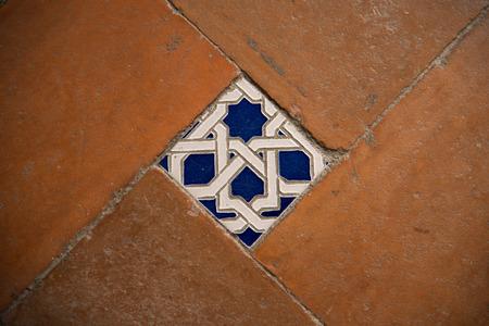 Colorful floor tiles of the Monastery of Saint John of the Kings Toledo
