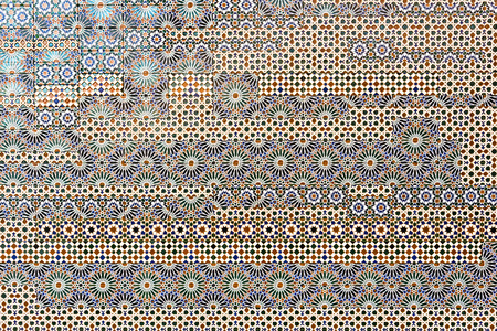 ceramic tiles: Traditional spanish tiles on the wall in Toledo Spain