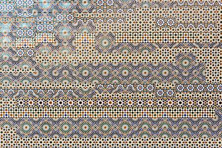 ceramiki: Tradycyjne hiszpańskie płytki na ścianie w Toledo w Hiszpanii Zdjęcie Seryjne