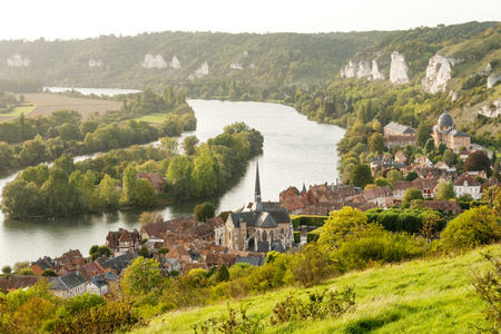 Les Andelys commune on the banks of Seine Upper Normandy