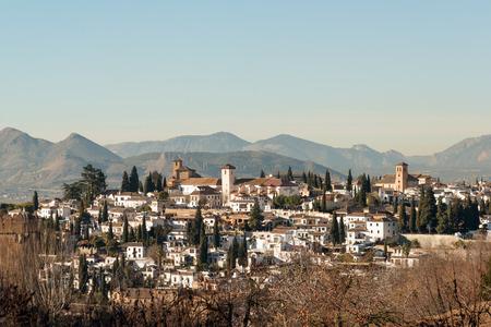 moorish: Panoramic view of Moorish Albaicin district of Granada
