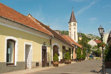 wine growing: City center of Tokaj town, famous wine growing region