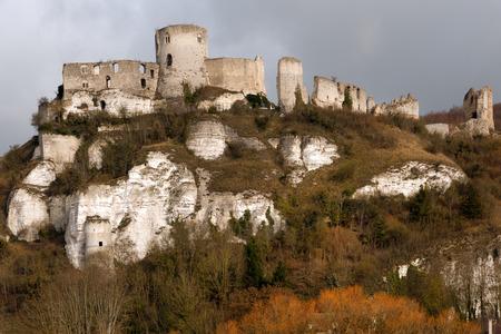 richard: Chateau Gaillard, ruined famous castle of Richard the Lionheart, Normandy