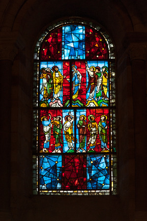 vitrage: Vitrage of  Saint Julian of Le Mans cathedral, Le Mans, France
