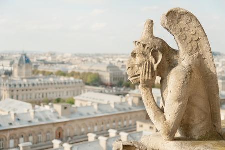 notre dame de paris: Guardian demon, the best known chimera of Notre Dame de Paris